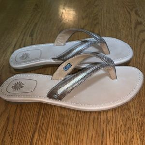 Leather Ugg Thong Sandals